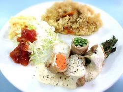 遠別野菜の肉巻プレート