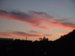夕焼け雲に誘われて・・・。