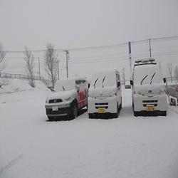 忘れた頃にやってくる・・雪!!