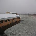 外は白い雪の午後!!